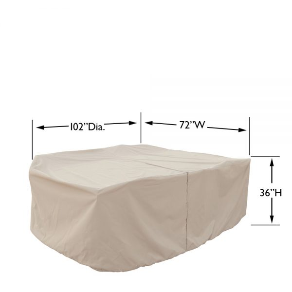 CP584 Medium oval/rectangle table & chairs cover dimensions