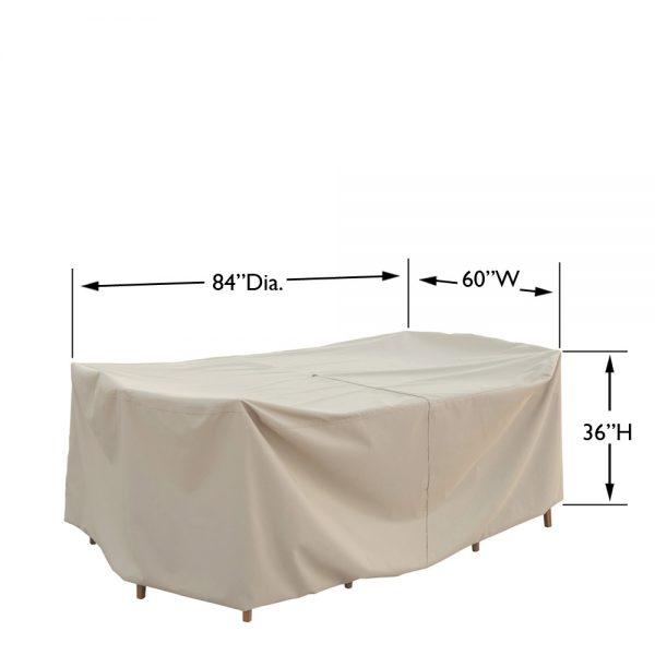 CP586 Small oval/rectangle table & chairs cover dimensio2ns