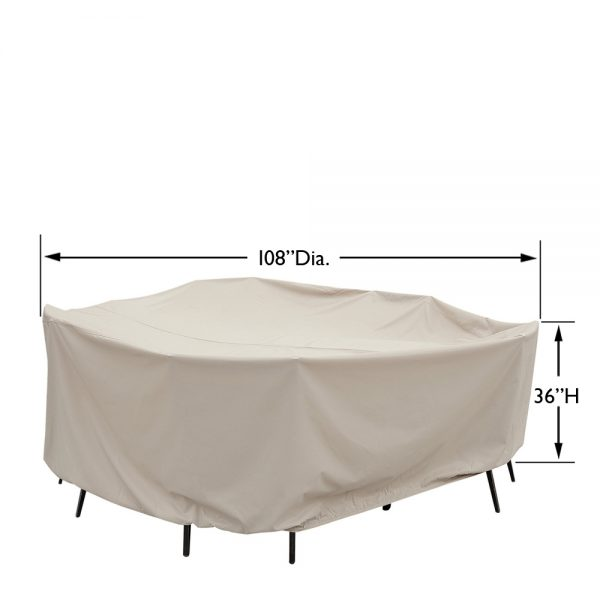 """CP590 60"""" round table and chair cover"""