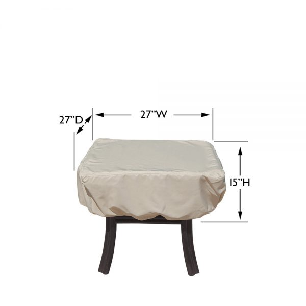 CP922 Square or round occasional table cover dimensions
