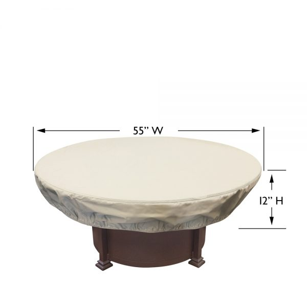 CP930 round fire pit cover dimensions