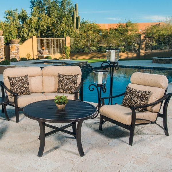 Tropitone aluminum deep seating patio furniture