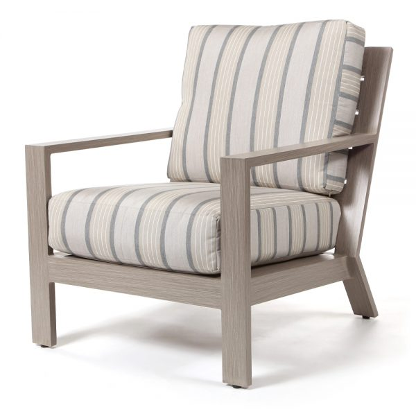 Destin lounge chair with Cove Pebble cushions