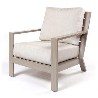 Destin club chair with Echo Ash cushions