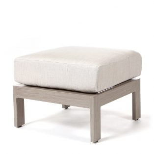 Destin ottoman with Echo Ash fabric