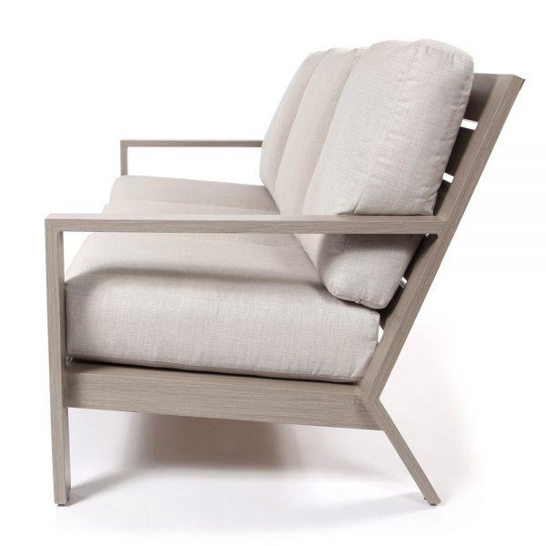 Destin aluminum sofa side view