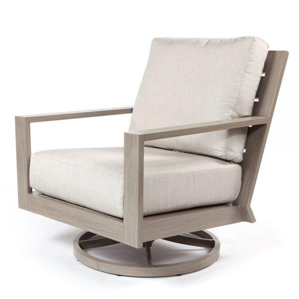 Destin swivel rocker club chair with Echo Ash cushions