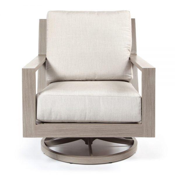 Destin swivel lounge chair front view