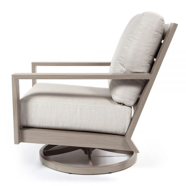 Destin outdoor swivel rocker club chair side view
