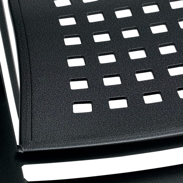 Impressions stationary barstool seat detail