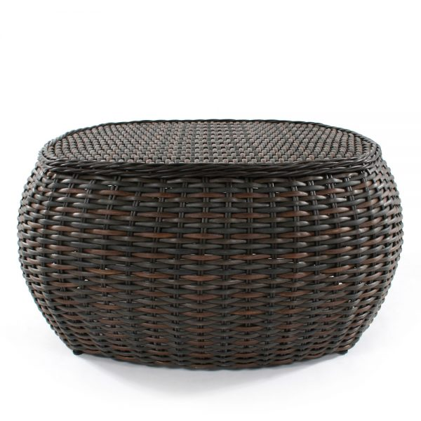 Ebel Dreux outdoor wicker chat table