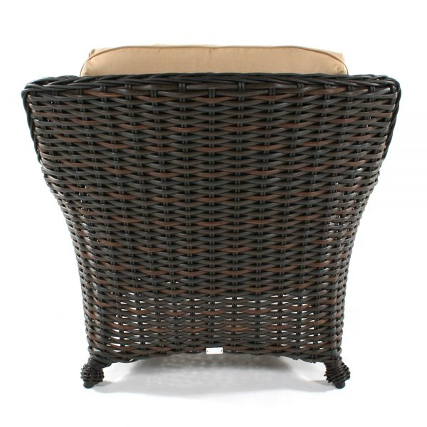 Dreux wicker club chair from Eble back view