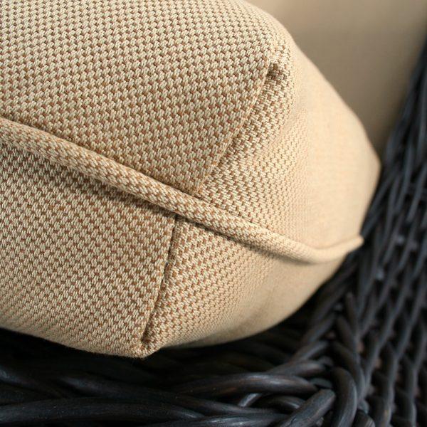 Ebel Outdura Scoop Jute fabric detail