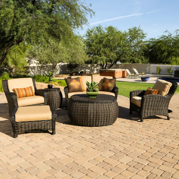 Dreux wicker deep seating furniture