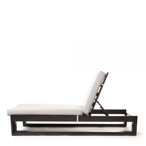 Denmark outdoor chaise lounge side view