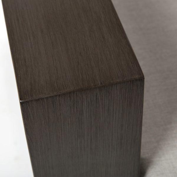 Denmark aluminum club chair with a Ash Grey powder coat finish