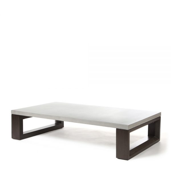Denmark coffee table with aluminum top