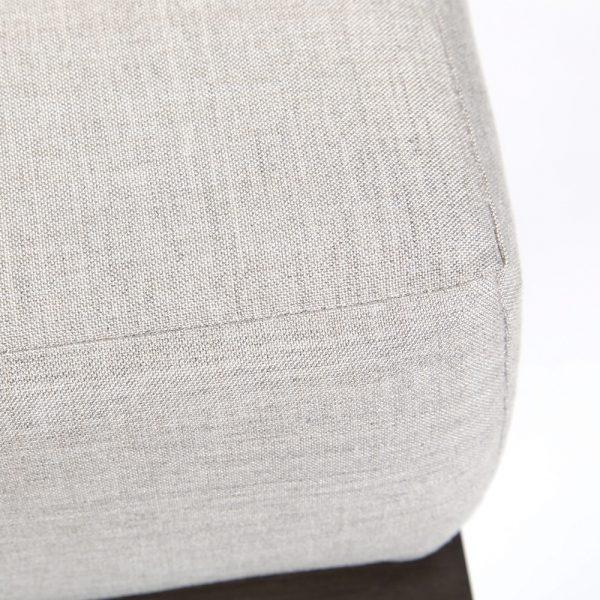 Denmark ottoman with Sunbrella Cast Silver fabric