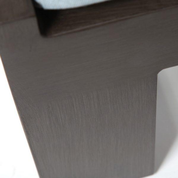 Denmark aluminum ottoman with an Ash Grey frame finish