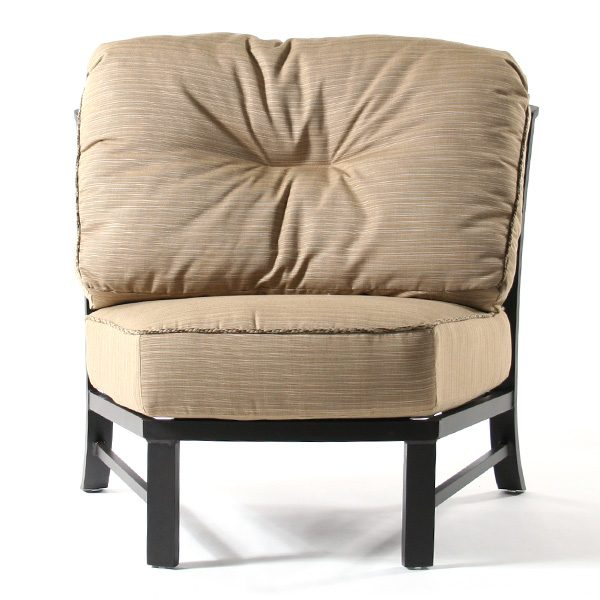 Ellington armless club chair front view