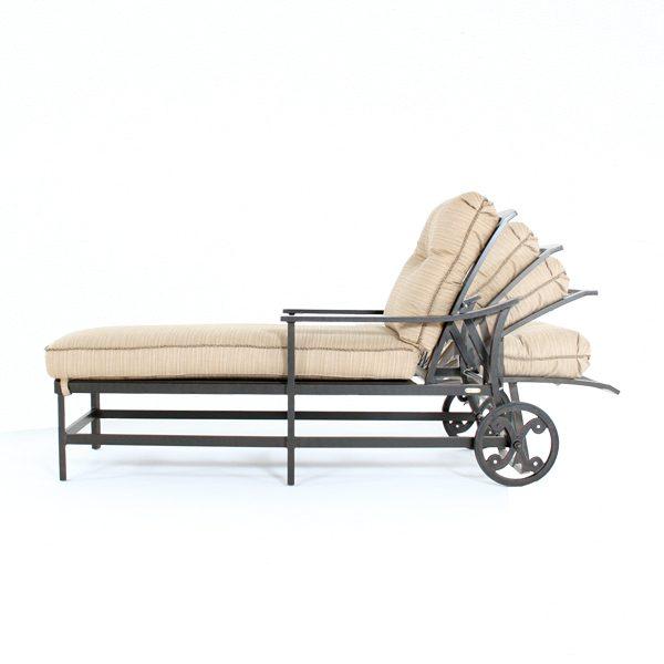 Ellington chaise lounge side view