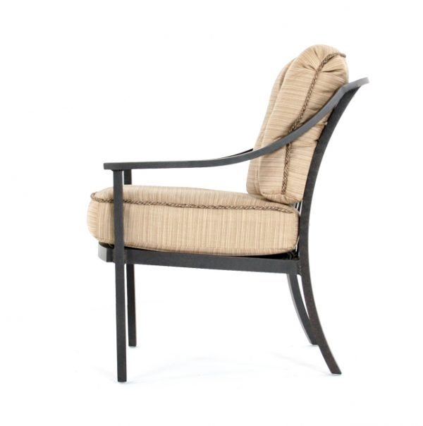 Ellington outdoor dining chair side view
