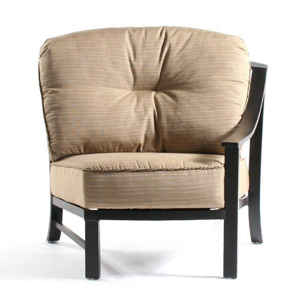 Ellington left arm club chair front view