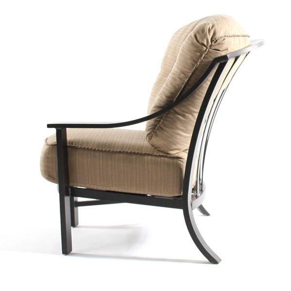 Ellington left arm club chair side view