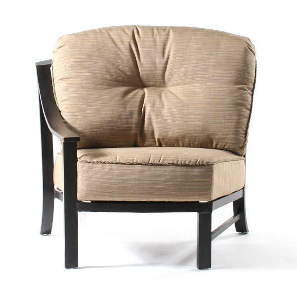 Ellington right arm club chair front view