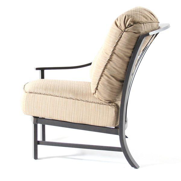 Ellington right arm club chair side view