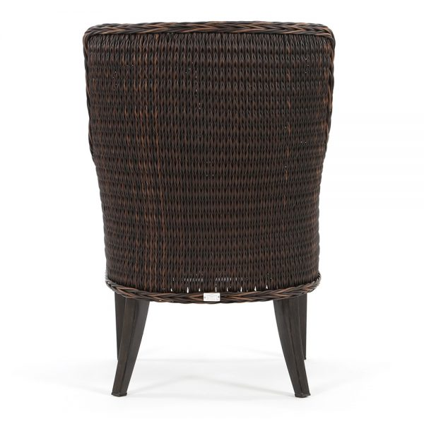 Geneva outdoor dining chair back view