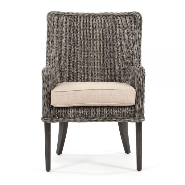 Ebel Geneva wicker patio dining chair front view