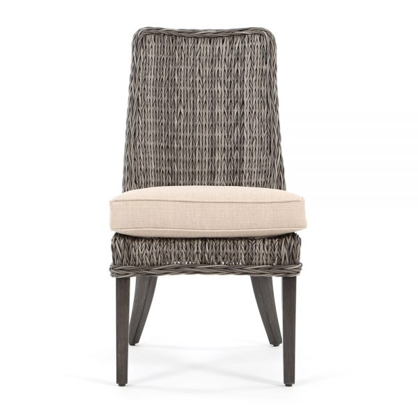 Ebel Geneva wicker dining chair front view