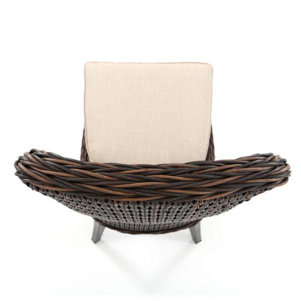 Geneva Ebel wicker dining side chair with Chestnut hand woven wicker