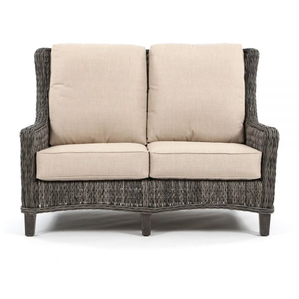 Ebel Geneva wicker love seat front view