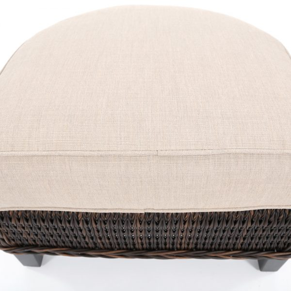 Ebel Geneva ottoman with a Echo Dune Sunbrella cushion