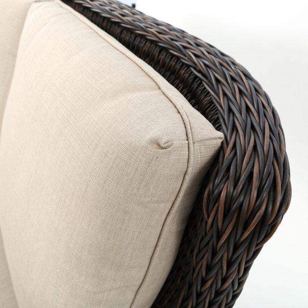Ebel Geneva outdoor sofa with Echo Dune Sunbrella fabric