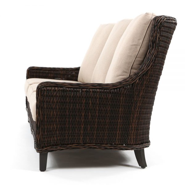 Geneva outdoor wicker couch side view