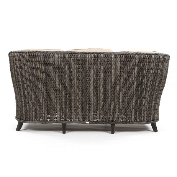 Geneva outdoor wicker couch back view