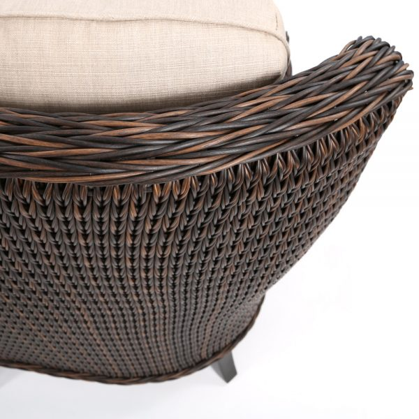 Geneva outdoor wicker sofa with a Chestnut finish