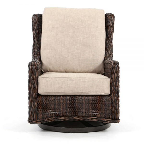Ebel Geneva outdoor swivel rocker club chair front view