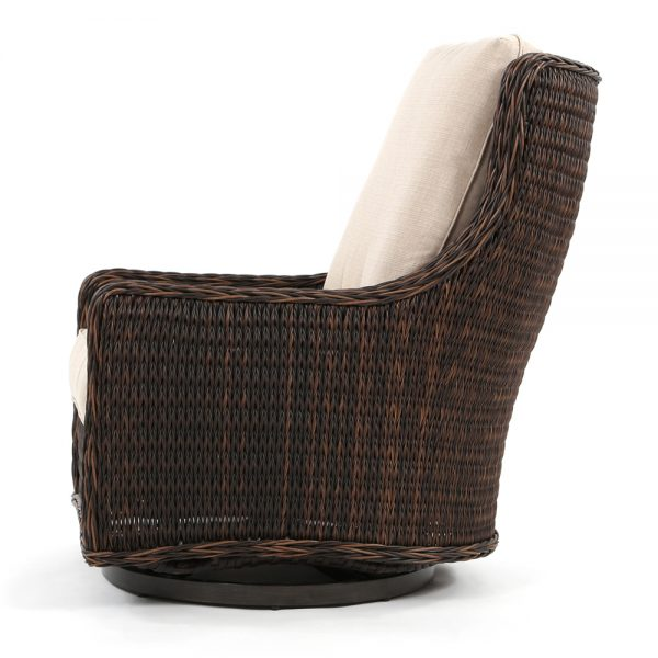 Geneva patio swivel lounge chair side view
