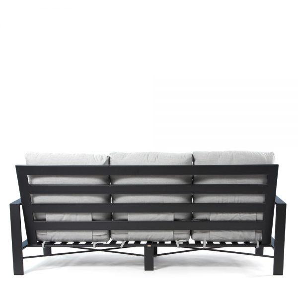 Gios wrought iron patio sofa back view