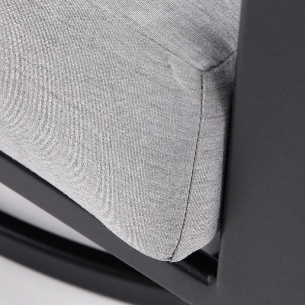 OW Lee Gios swivel lounge chair with Sunbrella Canvas Granite cushions