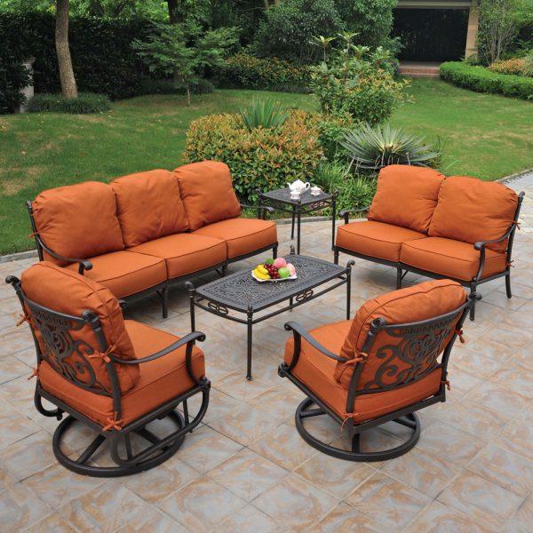 Hanamint Grand tuscany outdoor furniture set