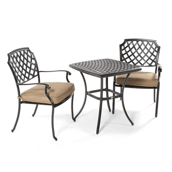 Agio Heritage 3 piece cafe bistro set side view