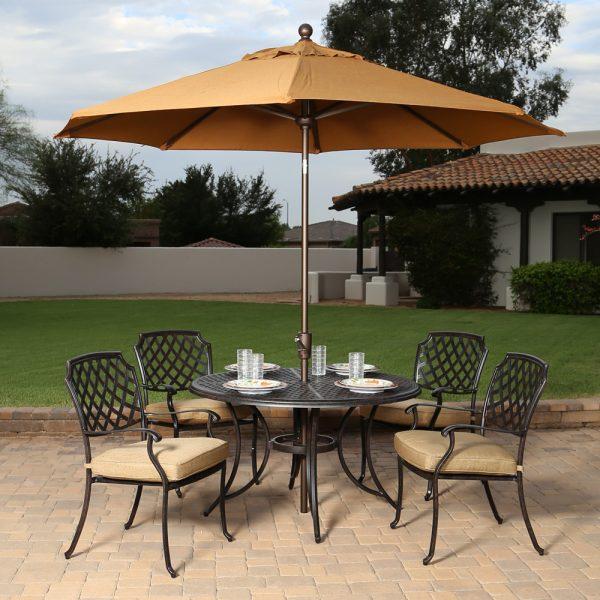 Agio Heritage aluminum patio dining furniture
