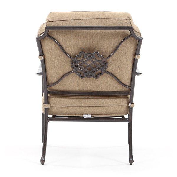 Agio Heritage patio club chair back view