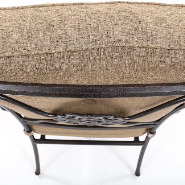 Agio Heritage aluminum frame with an Aged Bronze powder coat finish