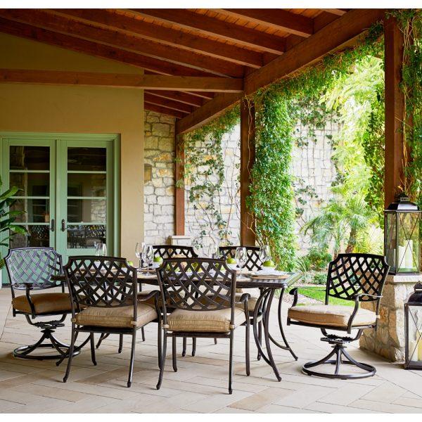 Agio Heritage aluminum dining furniture